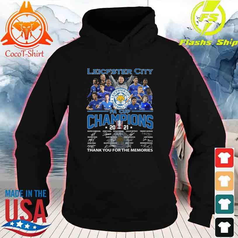 Leicester Football Club FA Cup Champions 2021 Thank You for the memories signatures hoodie