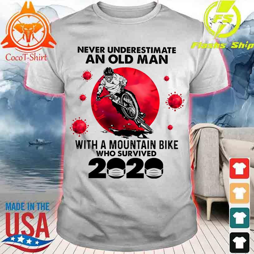 Official Never underestimate an old Man with a Mountain Bike and survived 2020 shirt